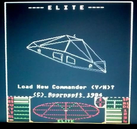 BBC Micro Elite running on a Raspberry Pi under emulation